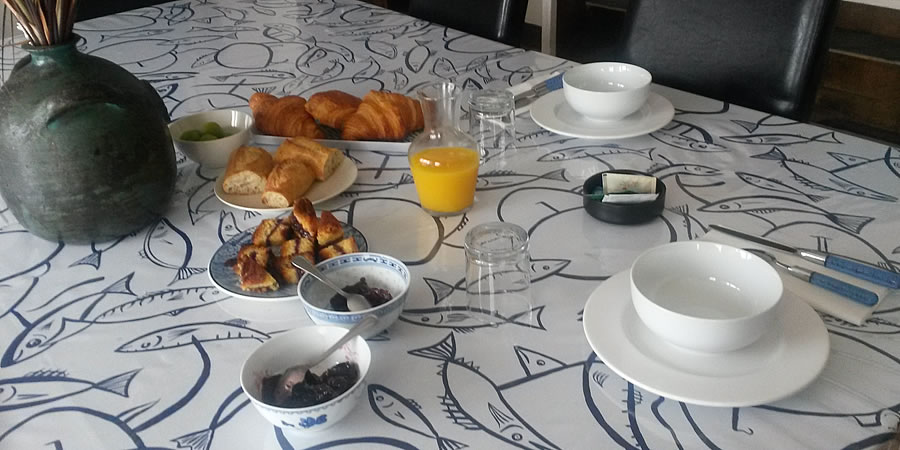 The breakfast in Le Dolmen